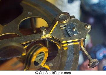 macro, regulamento, mecanismo, de, Um, sextant
