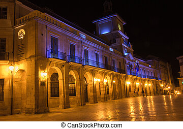 Night view of famous city of Vigo, Spain