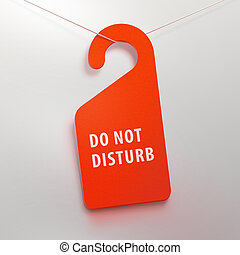 Do not disturb tag. Red color. - Do not disturb tag in hotel...