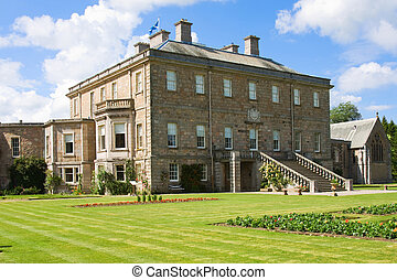 Haddo House in Scotland - Scottish stately home in formal...