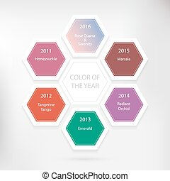 Color of the year concept. Vector infographic design with...