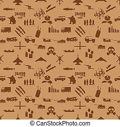 military icons seamless wallpaper vector style
