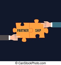 Business partnership concept