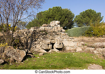 Ruins of an old water mill in Galapagar, Spain