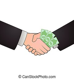 Handshake corruption concept illustration design