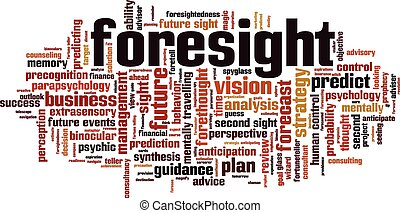 Foresight Convertedeps - Foresight word cloud concept Vector...
