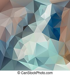 vector polygonal background with irregular tessellations pattern - triangular design in blue colors - turquoise, brown, beige