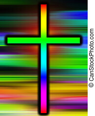 Colour Holy Cross - A colourful version of the holy cross.