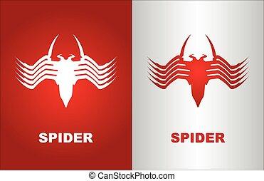 spider, white spider, red spider, computer virus - Elegant...