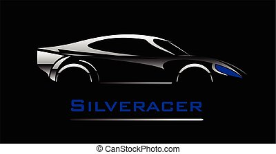 car Elegant car illustration - silver car icon car Elegant...