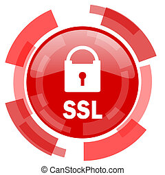 ssl red glossy web icon