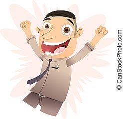 Cartoon happy boss
