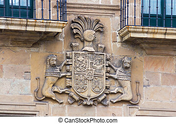 Blazon Coat of arms in stone