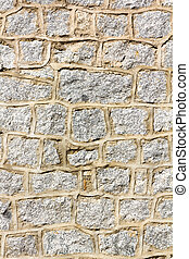 Background wall made of stone blocks