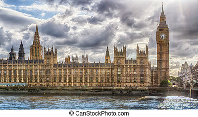 Houses of Parliament HDR - HDR image of the London Houses of...