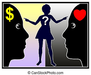 Marriage for Money or Love