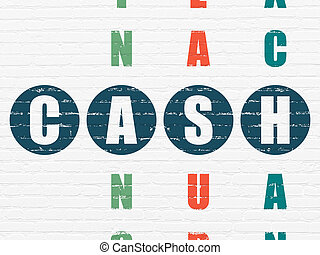 Money concept: Cash in Crossword Puzzle