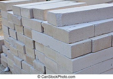 concreto, bloco, peso leve