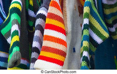 Muchos, colores, tela, Plano de fondo