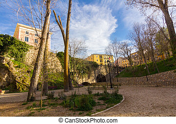 park in the city of Cuenca, Spain