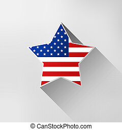 Star in national american colors - Star in national flag...