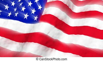 American Flag Light Rays Loop