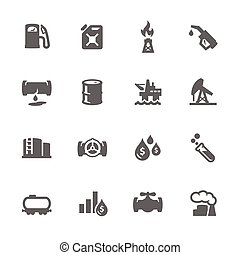 Simple Oil Icons - Simple Set of Oil Related Vector Icons...