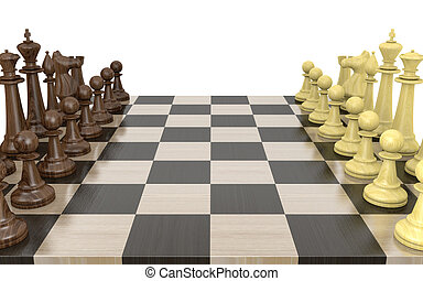 Two sides of a chess board - Two sides for a competitive...
