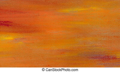 Animated Abstract Orange Background - Artistic imitation of...