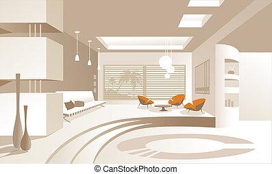 Apartment Interior - Modern Apartment Interior