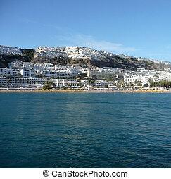 Puerto Rico Gran Canaria - Sea and landscape in Puerto Rico...