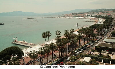 Shot of the Riviera of Cannes, France