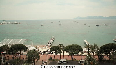 Riviera of Cannes, sunny day
