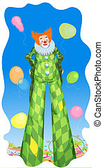 Clown and the Balloons