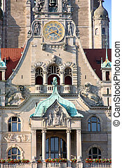 New Town Hall Rathaus in Hanover, Germany