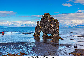 "Stone ""mammoth"" Iceland. Remains of an ancient extinct..."