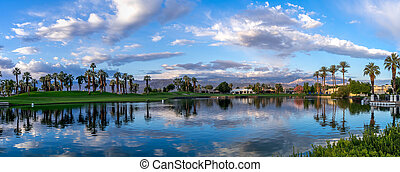 Luxury homes, Palm Desert - Luxury homes along a golf course...
