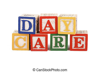 Daycare - alphabet blocks isolated - Alphabet blocks lined...