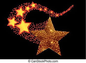 Abstract falling star - Abstract shooting star, vector...