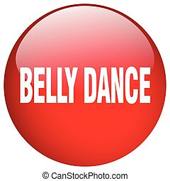 belly dance red round gel isolated push button