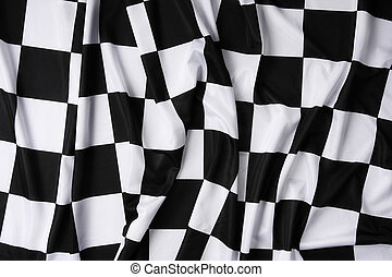 Real waving checkered flag - This is a real checkered flag...