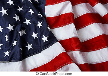 Stars and stripes - American flag background - shot and lit...