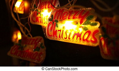 Christmas and new year decoration blinking garland