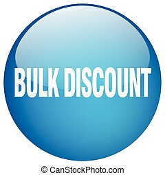 bulk discount blue round gel isolated push button