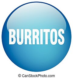 burritos blue round gel isolated push button