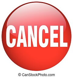 cancel red round gel isolated push button