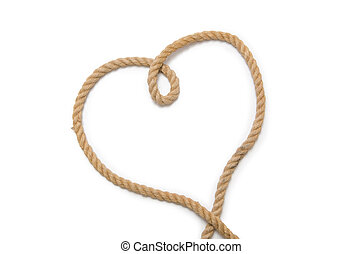 Rope in the shape of heart