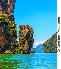 The tourist season in Thailand. Calm and warm sea and...