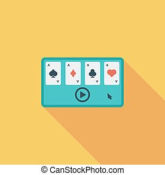 Video game flat icon - Video game icon Flat vector related...