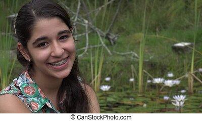 Happy Teenage Girl Outdoors